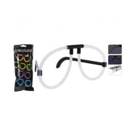 Brýle světélkující 6ks plast mix