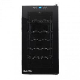 Klarstein Vivo Vino, 52 litrů, 18 lahví chladnička na víno, LED, černá