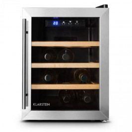 Klarstein Reserva 12 Uno, 33 litrů, chladící vinotéka, 12 lahví, nerezová ocel, LED