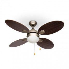 """Klarstein Valderama, palisandr, stropní ventilátor, 42 """", 60 W, stropní lampa, 2 x 43 W"""