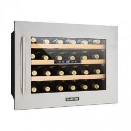 Klarstein Vinsider 24D, vestavěná chladnička na víno, 24 lahví, ušlechtilá ocel