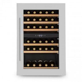 Klarstein Vinsider 35D, vestavěná chladnička na víno, 128 litrů, 41 lahví na víno, 2 zóny