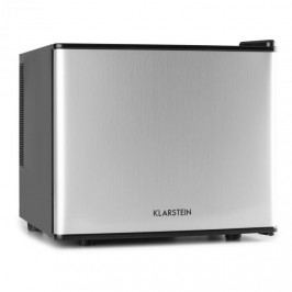 Klarstein mini lednička, mini bar, 17 litrů, 50W, A +, stříbrná
