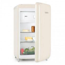 Klarstein Popart Cream, krémová, retro chladnička, A ++, 108 l / 18 l mrazicí box