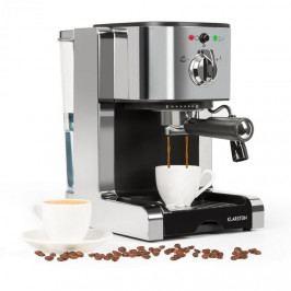 Klarstein Passionata 20 kávovar na výrobu espressa, 20 bar, cappuccino, mléčná pěna, stříbrná barva