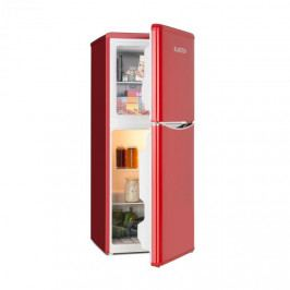 Klarstein Monroe L, kombinovaná chladnička, mrazák, 70 / 38l, A +, retro design, červená