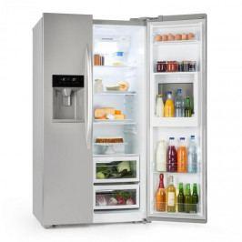 Klarstein Grand Host XXL chladnička, 550 litrů, dávkovač ledu a vody, A +, stříbrná barva