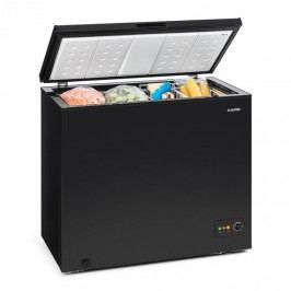 Klarstein Iceblokk 200, truhlicová mraznička, mrazicí box, A ++, 200 litrů, 2 závěsné koše, kolečka, černá