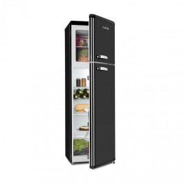 Klarstein Audrey Retro kombinace chladničky s mrazničkou, 194 l / 56 l, A ++, černá