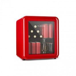 Klarstein PopLife, chladnička na nápoje, chladnička, 48 litrů, 0 - 10 °C, retro design, červená