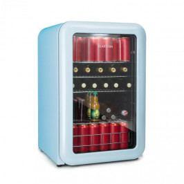Klarstein PopLife, chladnička na nápoje, chladnička, 115 litrů, 0 - 10 °C, retro design, modrá
