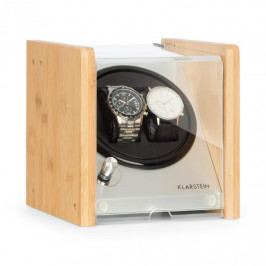Klarstein Hanoi 2, natahovač hodinek, 2 kusy hodinek, 3 rychlosti, 4 režimy, bambus