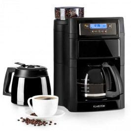 Klarstein Aromatica II Duo, kávovar, integrovaný mlýnek, 1.25 l, černý
