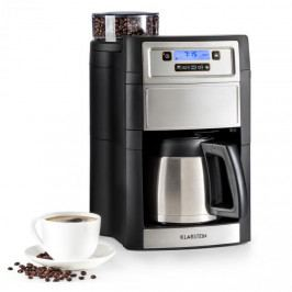 Klarstein Aromatica II Thermo, kávovar, integrovaný mlýnek, 1,25 l, stříbrný