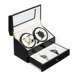 Klarstein Geneva, pohyblivý stojan na hodinky, 4 hodinek, 4 režimy, zásuvka, černý