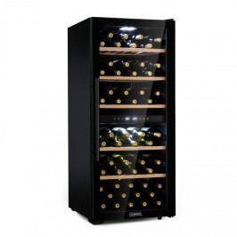 Klarstein Barossa 102D, vinotéka, 2 zóny, 102 lahví, dotykový LED displej, černá