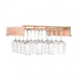 Klarstein Barossa 102D, police na sklenice na víno, 4 kolejnice, pravé dřevo