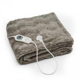 Klarstein Dr. Watson Comfort & Style, vyhřívací deka, 120 W, 180 x 130 cm, umělá kožešina, béžová