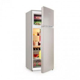 Klarstein Big Daddy L, kombinovaná chladnička s mrazničkou, 207 litrů, A++, vzhled ušlechtilé oceli