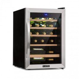 Klarstein Vinamour 19, vinotéka, 19 lahví, 65 l, 4 - 18 °C, 39 dB, sklo, černá