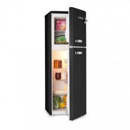 Klarstein Audrey, chladnička s mrazákem, 90 l/ 39 l, retro vzhled, černá