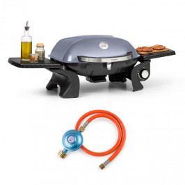 Klarstein Parforce one, plynový gril, 3,5 kW, 12000 BTU, 300 °C, SNJS, plynová hadice, šedý