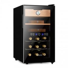 Klarstein El Dorado, humidor a vinotéka, 100 W, dotykový, 48 l, LED, černý