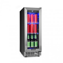 Klarstein Beerlager 56, lednička na nápoje, 56 l, 20 lahví, energetická třída A, ušlechtilá ocel, černá