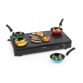 Klarstein Partylette, 3v1 stolní gril, wok, palačinkovač, 1000 W, 4 osoby, nepřilnavý povrch