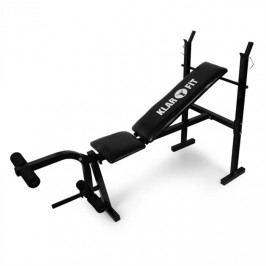 KLARFIT lavice pro činky, tréninková lavice, posilovač nohou