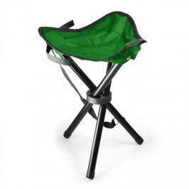 DURAMAXX Přenosná kempovací židle, rybářská stolička, zeleno-černá, 5
