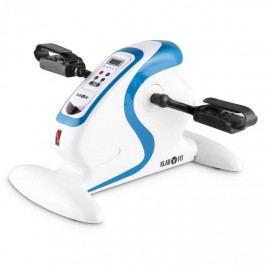KLARFIT Cycloon minibike, pohybový trenér, motor, 120 kg, dálkové ovládání, bílá / modrá