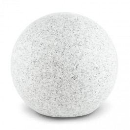 Lightcraft Shinestone M, zahradní svítidlo, kulovité, 30 cm, vzhled kamene