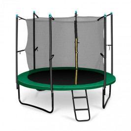 KLARFIT Rocketstart 250, 250cm trampolína, vnitřní bezpečnostní síť, široký žebřík, zelená