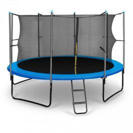 KLARFIT Rocketboy 366, 366cm trampolína, vnitřní bezpečnostní síť, široký žebřík, modrá