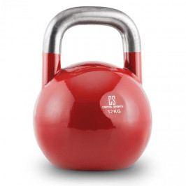 Capital Sports Compket 32, červená činka kettlebell 32 kg, kulové závaží