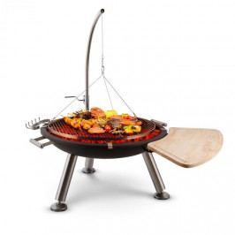 Blumfeldt Turion, šibenicový otočný gril, ohniště, Ø 80 cm, BBQ, lanový pohon, nerezová ocel