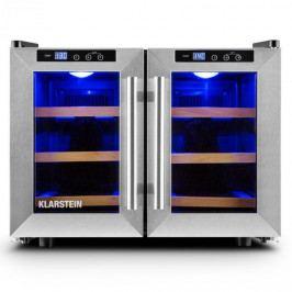 Klarstein Reserva Saloon, 40 litrů, chladicí vinotéka, 12 lahví, nerezová ocel, LED
