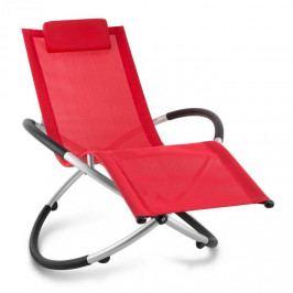 Blumfeldt Chilly Billy, zahradní lehátko, relaxační křeslo, hliník, červené
