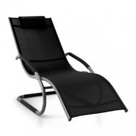 Blumfeldt Sunwave, zahradní lehátko, houpací lehátko, relax, hliník, černé