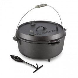 Klarstein Hotrod 145, litinový hrnec, BBQ hrnec, 12 qt/11.4 l, litina, černý