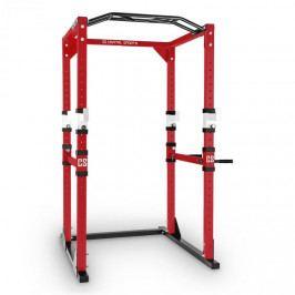 Capital Sports Tremendour Power Rack, červeno bílý, domácí posilovna, ocel