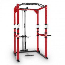Capital Sports Tremendour PL, červený, posilovací stojan, Power Rack, kladka, ocel