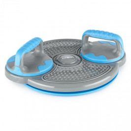KLARFIT Klartwist, modrý, rotační disk, 3 v 1 balanční podložka, držák pro kliky