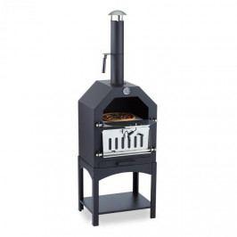 Klarstein Pizzaiolo, pec na pizzu, gril, uzení, ocel, pizza kámen