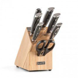 Klarstein Katana 8, sada nožů, 8dílná, nůžky, ocílka, nožový blok