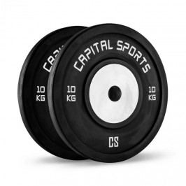 Capital Sports Inval, soutěžní bumper kotouče, hliníkové jádro, pár 2 x 10 kg