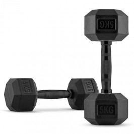 Capital Sports Hexbell jednoruční činky, pár, 2x 5 kg