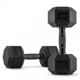 Capital Sports Hexbell Dumbell jednoruční činky, pár, 2x 10 kg