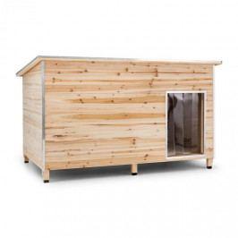 OneConcept Schloss Wuff, bouda pro psa, velikost L, 90 x 120 x 90 cm, izolovaná, závětří, dřevo
